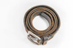 Cow leather belt Royalty Free Stock Images
