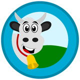 Cow in a logo. Illustration Royalty Free Stock Photography