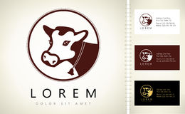 Cow logo Royalty Free Stock Images