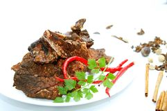 Cow Lung Recipe Stock Photo