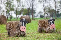 Cow made of hay. Farm cow, Cow made of hay Stock Image