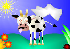 Cow on meadow Stock Photography