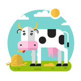 Cow on the meadow Royalty Free Stock Photography