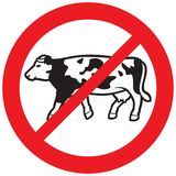Cow meat forbidden symbol Royalty Free Stock Photo