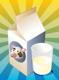 Cow milk Stock Images