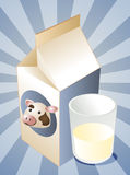 Cow milk Royalty Free Stock Photography