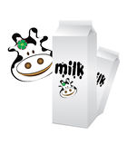 Cow milk. An illustration of a pack of milk Royalty Free Stock Images