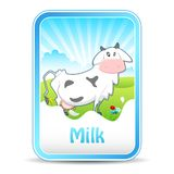 Cow on Milk Banner Stock Photos