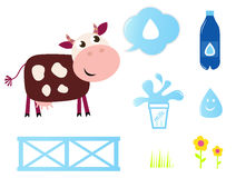 Cow, Milk and Dairy icons collection. Stock Image