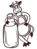 Cow milk Stock Images