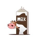 Cow with milk Royalty Free Stock Photography