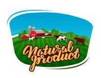 Cow milk vector logo. dairy farm, farmer or cattle ranch icon Stock Image