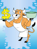 Cow and money Stock Photos
