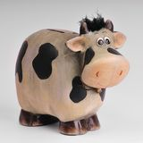 Cow moneybox. On white background Stock Photo