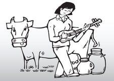 cow music Стоковые Фотографии RF