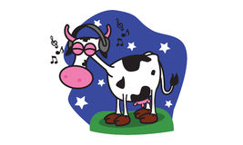 Cow Music Royalty Free Stock Images