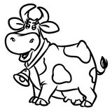 Cow outline cartoon illustration Royalty Free Stock Photo