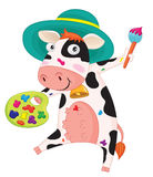 Cow painting Stock Images