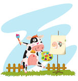 A cow painting Stock Image