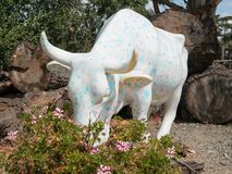 Cow Parade on the California central coast Royalty Free Stock Photography