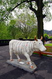 Cow parade, Edinburgh Royalty Free Stock Images