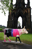 Cow parade sculpture, Edinburgh Royalty Free Stock Photography