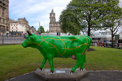 Cow parade sculpture, Edinburgh Royalty Free Stock Image