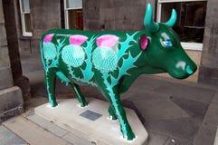 Cow parade sculpture, Edinburgh Stock Image