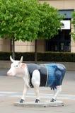 Cow parade sculpture, Edinburgh Royalty Free Stock Photos