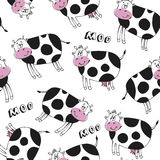 Cow pattern Stock Photo