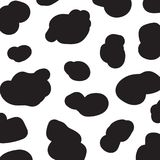 Cow pattern abstract background. Seamless pattern. Cow pattern abstract background. Seamless pattern black and white cow skin. Vector illustration for design Royalty Free Illustration