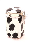 Cow pattern container Royalty Free Stock Photo