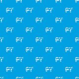 Cow pattern seamless blue Royalty Free Stock Images
