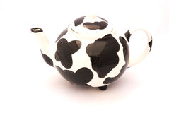 Cow pattern tea pot Stock Image