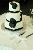 Cow Pattern Wedding Cake Royalty Free Stock Image