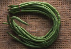 Cow pea. Cow-pea in bambooed basket Stock Photography
