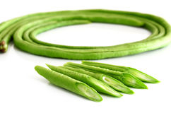 Cow-pea (long been) isolate on white background. Cow-pea (long been) on white background Stock Image