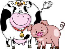 Cow and pig Stock Images