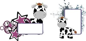 Cow plush baby toy cute cartoon copyspace. In vector format royalty free illustration