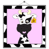 Cow portrait in cow frame Stock Photo