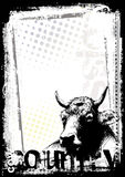 Cow poster background Stock Photos