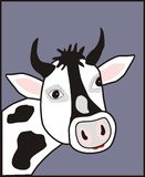 Cow poster picture vector. Beautiful designs for printing documents stuff, blankets, pillows, pillow cases, bags, T-shirts, sweats Royalty Free Stock Photo