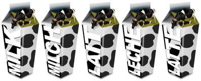 Cow's Milk packaging Royalty Free Stock Photo