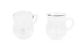Cow`s udder shaped glass cup isolated Royalty Free Stock Image