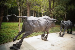 The cow sculpture landscape Royalty Free Stock Photo