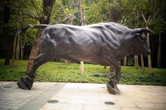 The cow sculpture landscape Royalty Free Stock Photos