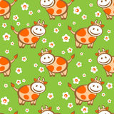 Cow seamless background Stock Image