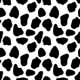 Cow seamless pattern, abstract vector background with black spots. Vector seamless cow skin pattern. Pattern for milk and farm production Royalty Free Illustration