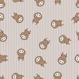 Cow seamless pattern background. Textile for baby kine. Vector beefs. Kid sleeping bossy. Cow seamless pattern background. Textile for baby kine. Vector beefs Royalty Free Stock Photos