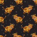 Cow seamless pattern Royalty Free Stock Photo